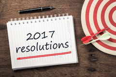 2017 résolutions Photo stock
