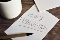 Résolutions de café et des textes 2017 Photos libres de droits