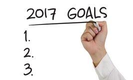 Résolutions de la nouvelle année 2017 Image libre de droits