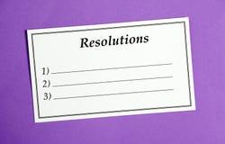 Résolutions de nouvelle année Photos stock