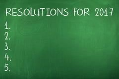 Résolutions de nouvelle année pour 2017 Photo stock