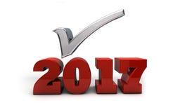 2017 - Résolutions et prévisions Illustration de Vecteur