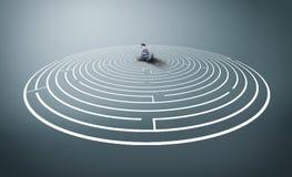 Résolvez le labyrinthe images stock
