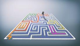 Résolvez le labyrinthe photos stock