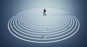 Résolvez le labyrinthe image stock