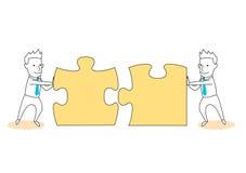 résolvez le puzzle et la solution ensemble Image libre de droits