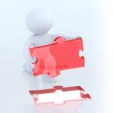 Résoudre le puzzle Image stock