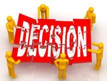 Résoudre le puzzle de décision Photo libre de droits