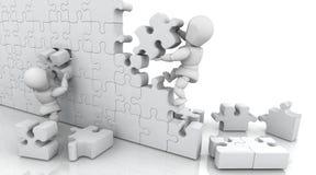 Résoudre le puzzle denteux illustration stock