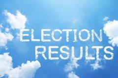 Résultats électoraux Images stock