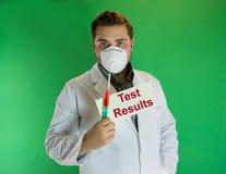 Résultats cliniques Photo stock