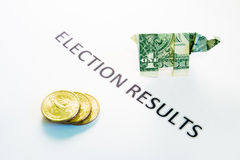 Résultats d'élection Photos stock