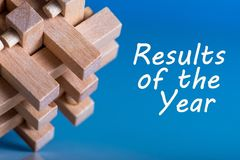 Résultats de l'année examen 2017 Heure de récapituler et prévoir des buts pour l'année prochaine Fond d'affaires Photo libre de droits