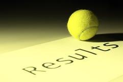 Résultats de tennis Photographie stock