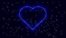 Résumé, étoile, l'espace, lumière, amour, coeur, cosmos, valentine, idole, éclat, luminescence, ligne, Photographie stock