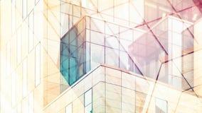 Résumé architectural avec la lumière chaude et la double exposition photo libre de droits