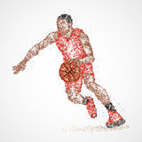 Résumé, basket-ball, athlète illustration stock