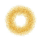 Résumé, cercle, or, sable, la poussière, scintillement Photo libre de droits