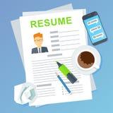 Résumé d'employé potentiel Chercheurs d'emploi et vacances d'emploi, louant et recrutant Image libre de droits