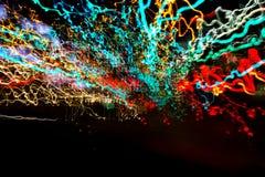 Résumé d'explosion colorée Images libres de droits