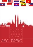 Résumé de la communauté économique d'ASEAN, l'AEC Photo libre de droits