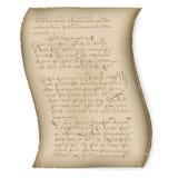 Résumé de manuscrit Image libre de droits