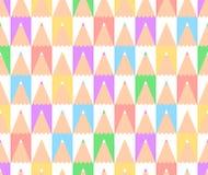 Résumé de nouveau au modèle sans couture de vecteur d'école avec un ensemble de crayons colorés illustration de vecteur