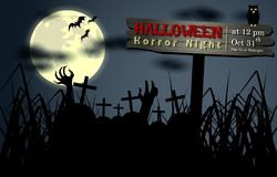 Résumé de nuit de Halloween Photos stock