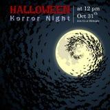 Résumé de nuit de Halloween Photos libres de droits