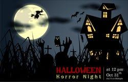 Résumé de nuit de Halloween Photo stock