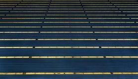 Résumé des toits bleus profonds Photographie stock libre de droits