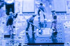 Résumé, fin aux circuits électroniques, nous voyons la technologie du mainboard, qui est le fond important du comput images libres de droits