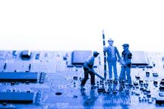 Résumé, fin aux circuits électroniques, nous voyons la technologie du mainboard, qui est le fond important du comput photos libres de droits