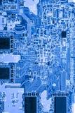 Résumé, fin aux circuits électroniques, nous voyons la technologie du mainboard, qui est le fond important du comput image libre de droits