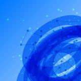 Résumé, fond bleu géométrique. Images libres de droits