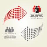Résumé infographic avec des flèches de points Vecteur Photographie stock