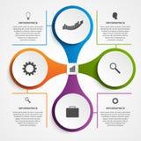 Résumé infographic sous forme de métabolique Éléments de conception Photos stock