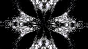 Résumé, modèle symétrique monochrome des plumes sur le fond noir, boucle sans couture Ovales abstraits kaléïdoscopiques illustration de vecteur