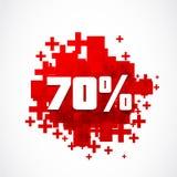 Résumé 70 pour cent outre de fond Images libres de droits