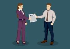 Résumé pour Job Application Cartoon Vector Illustration Photographie stock