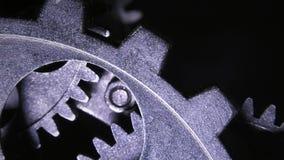Résumé Rusty Metallic Clock Gears grunge industriel banque de vidéos