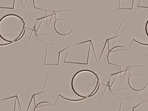 Résumé sans couture sur brun et blanc beiges l'amour de mot Photo libre de droits