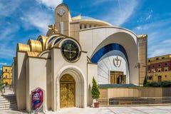 Résurrection de cathédrale orthodoxe du Christ à Tirana photographie stock