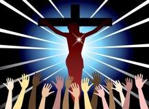 Résurrection de Pâques illustration de vecteur