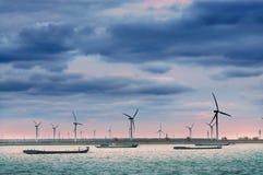 Rétablissement 3 d'énergie éolienne images libres de droits