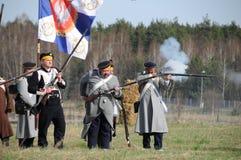 rétablissement de bataille de 19ème siècle Photographie stock libre de droits