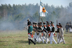 rétablissement de bataille de 19ème siècle Images libres de droits