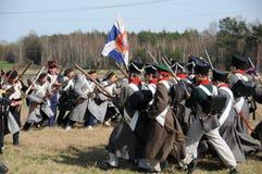 rétablissement de bataille de 19ème siècle Image stock