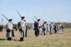 rétablissement de bataille de 19ème siècle Photographie stock