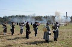 rétablissement de bataille de 19ème siècle Images stock